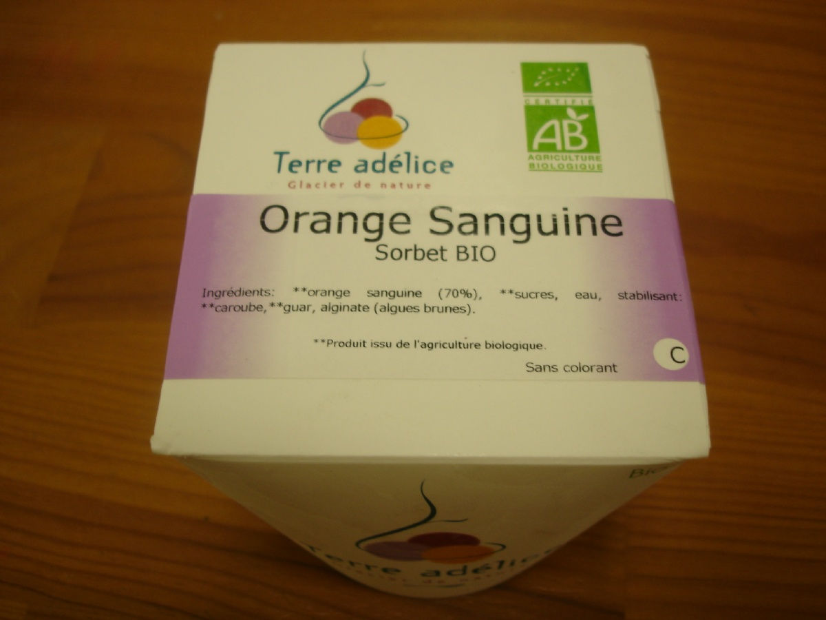 SORBET ORANGE SANGUINE 500 ML