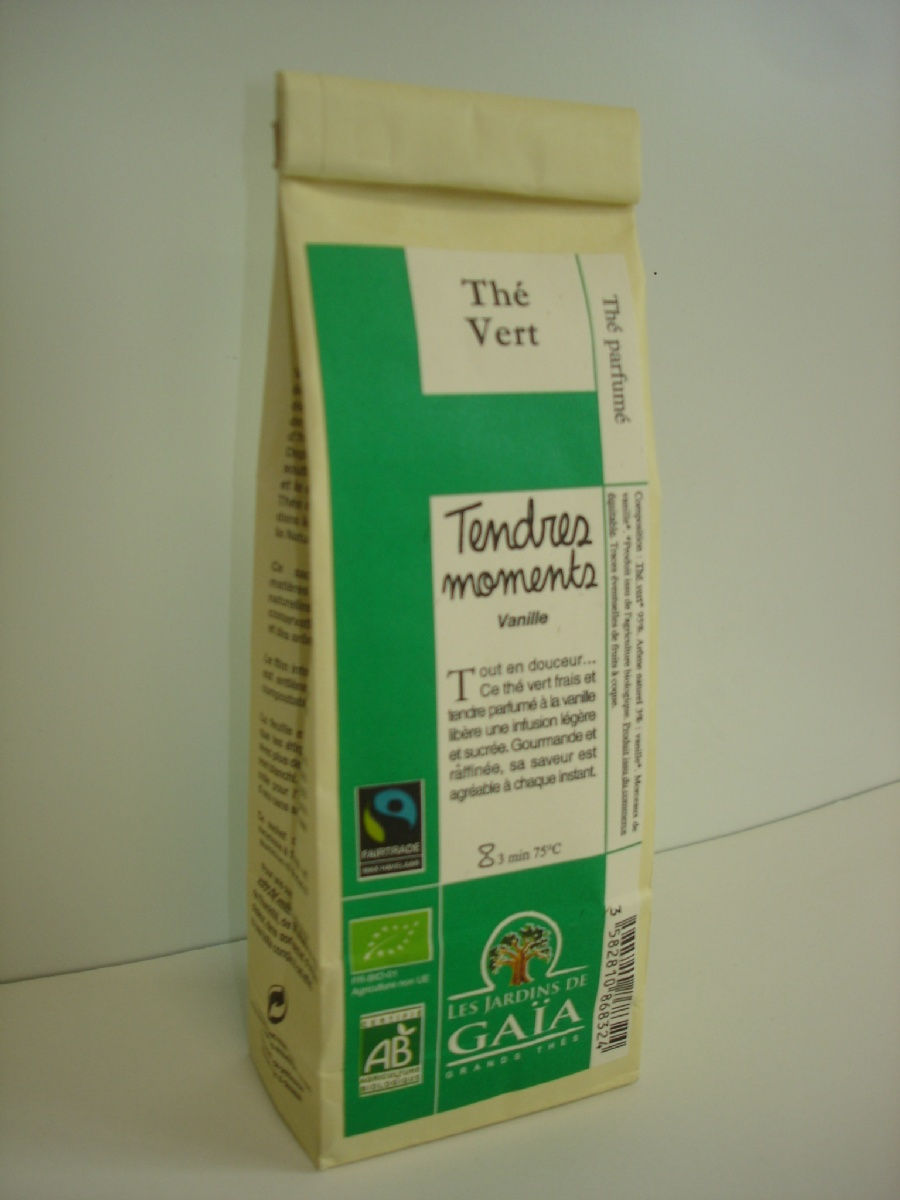 Thé vert vanille tendres moments 100g