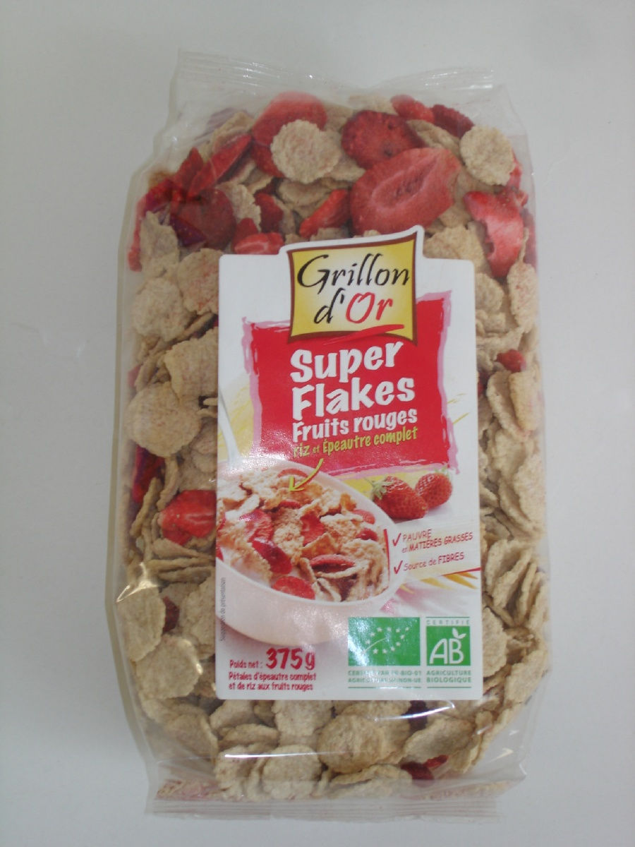 Flakes riz épeautre fruits rouges 375g